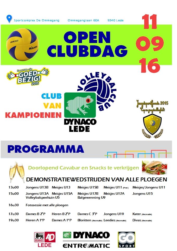 Open Clubdag 2016